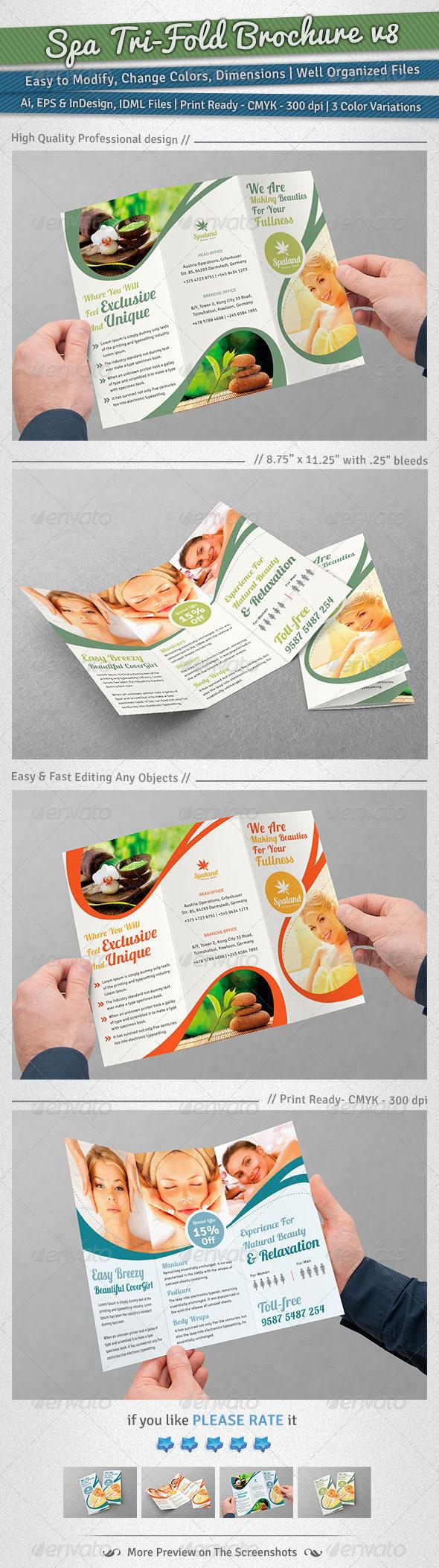 Spa Tri-Fold Brochure | Volume 8 - Corporate Brochures