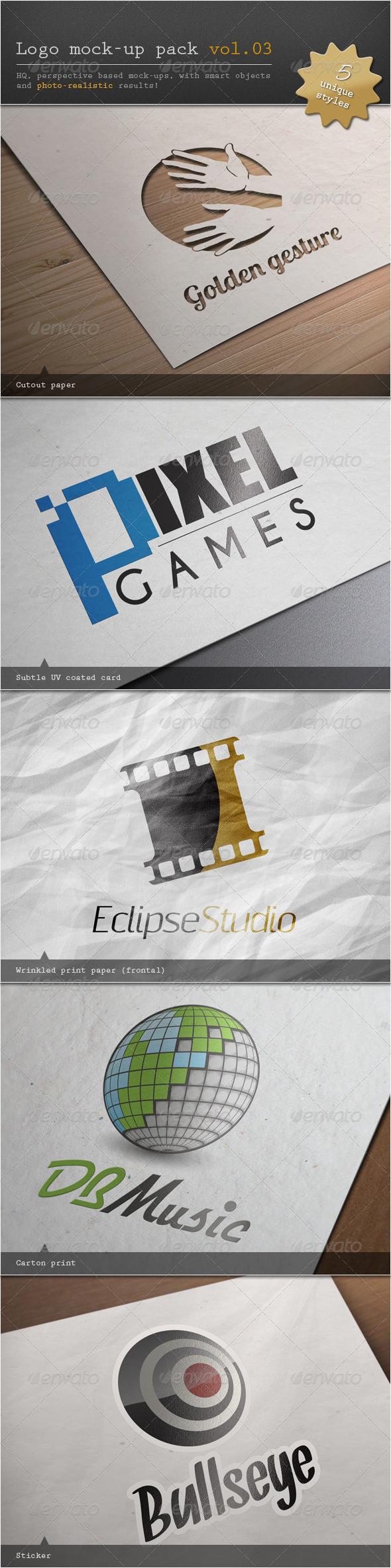 Logo Mock-up Pack Vol.03 - Logo Product Mock-Ups