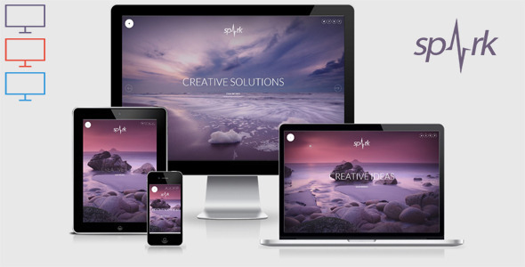 Spark – Responsive Unique HTML 5 Template