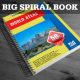 Big Spiral Book Mock-Up - GraphicRiver Item for Sale