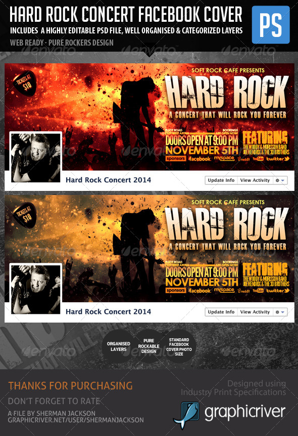 Hard Rock Facebook Concert Cover - Facebook Timeline Covers Social Media
