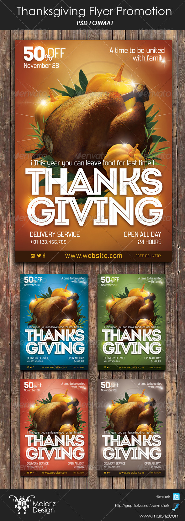 Thanksgiving Flyer Promote - Restaurant Flyers