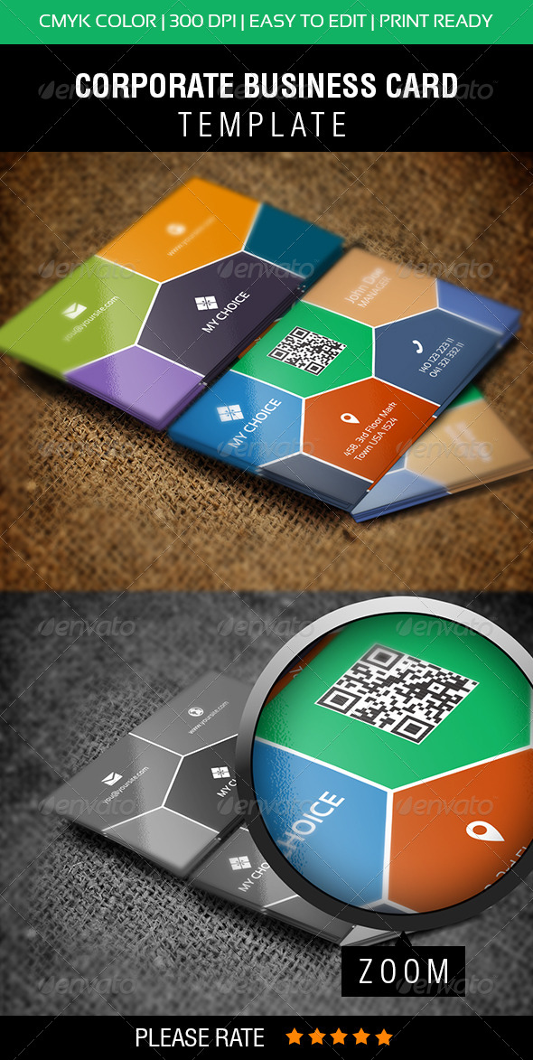 Metro Business Card  - Corporate Business Cards