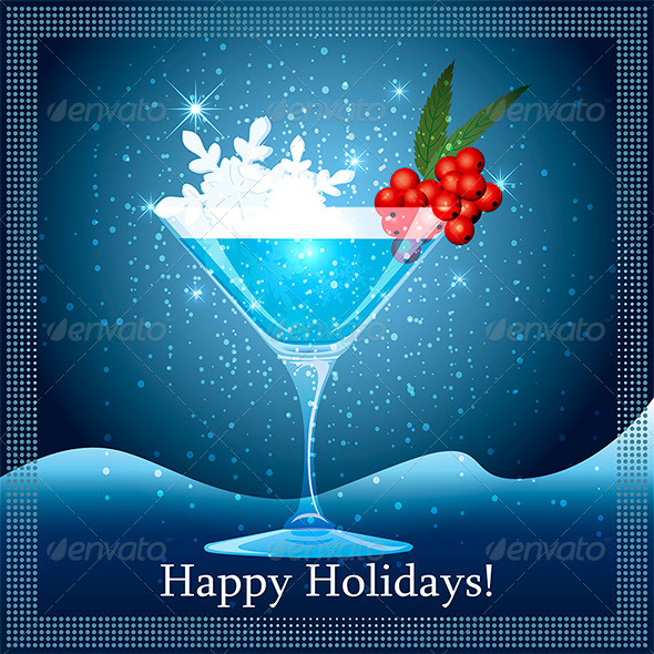 Snowflake Cocktail - New Year Seasons/Holidays