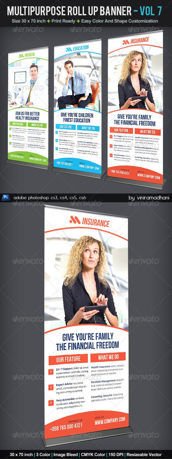 Multipurpose Roll Up Banner | Volume 7 - Signage Print Templates
