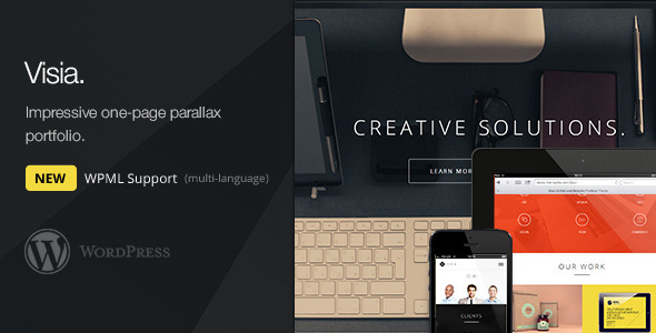 Visia – Responsive One Page Retina WordPress Theme