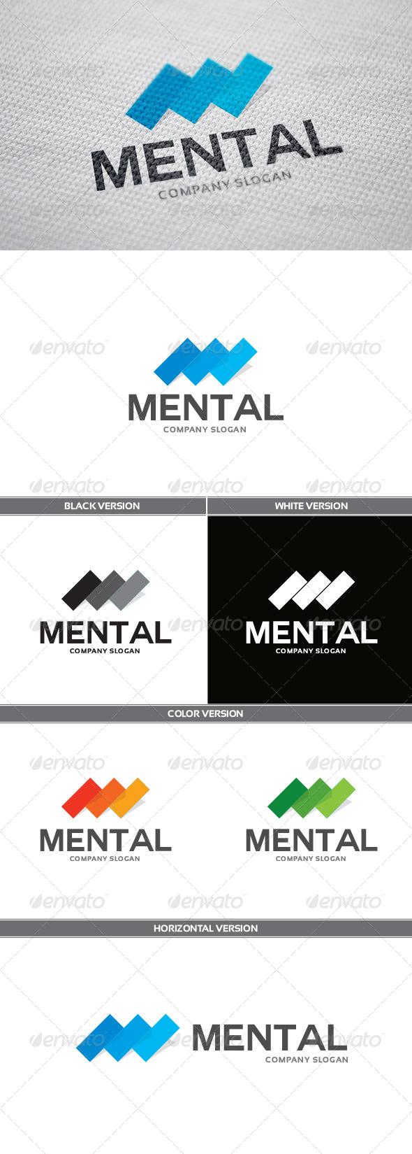 Mental Logo - Letters Logo Templates