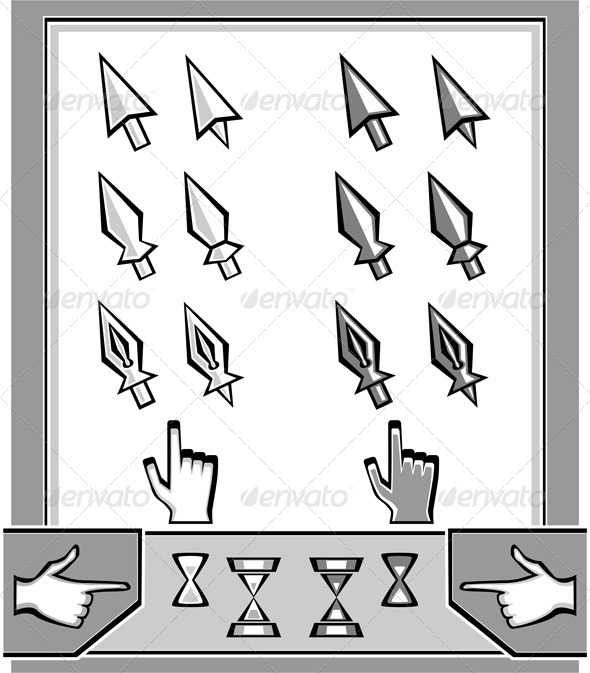 Set Cursors Icons - Computers Technology