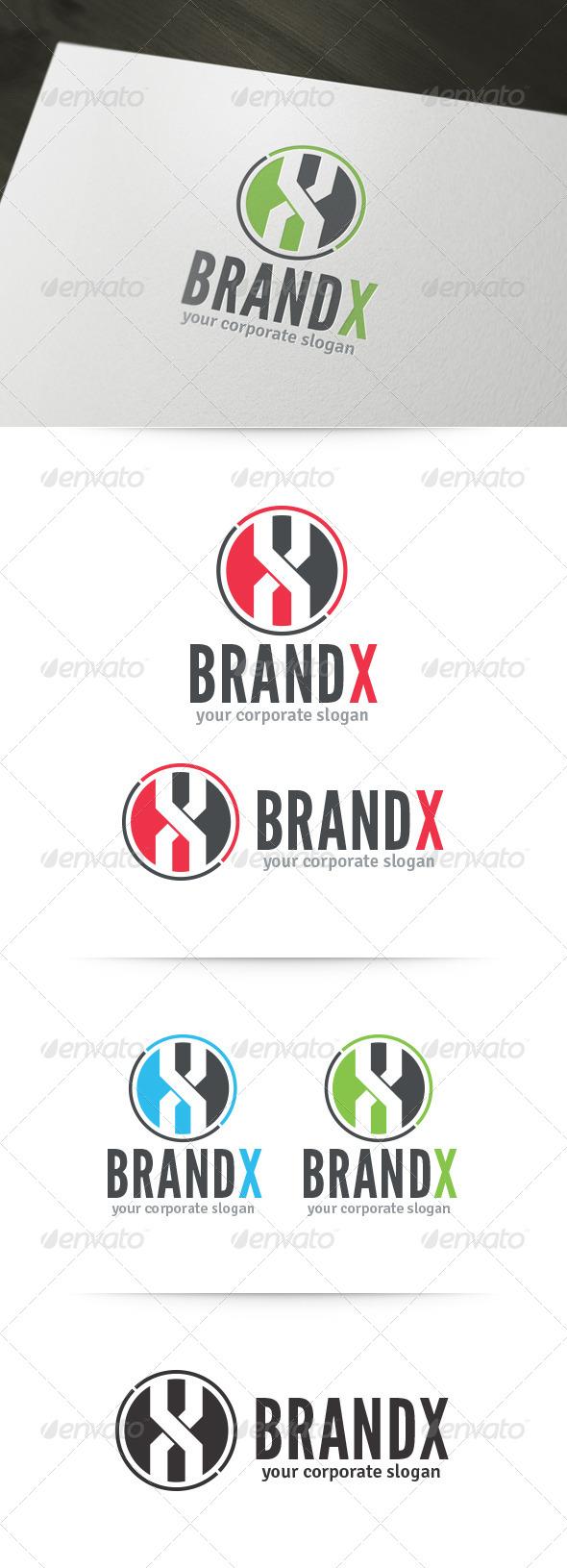 Brand X - Letter Logo - Letters Logo Templates