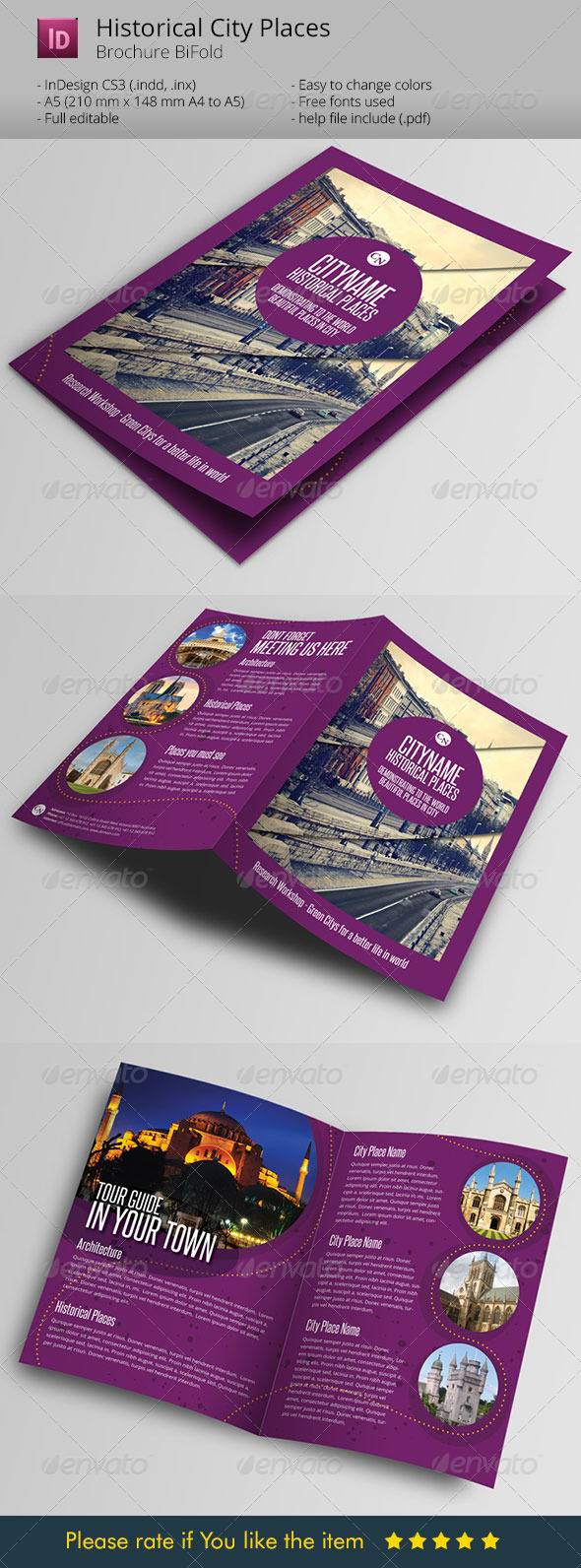 History City Guide Template Brochure - Informational Brochures