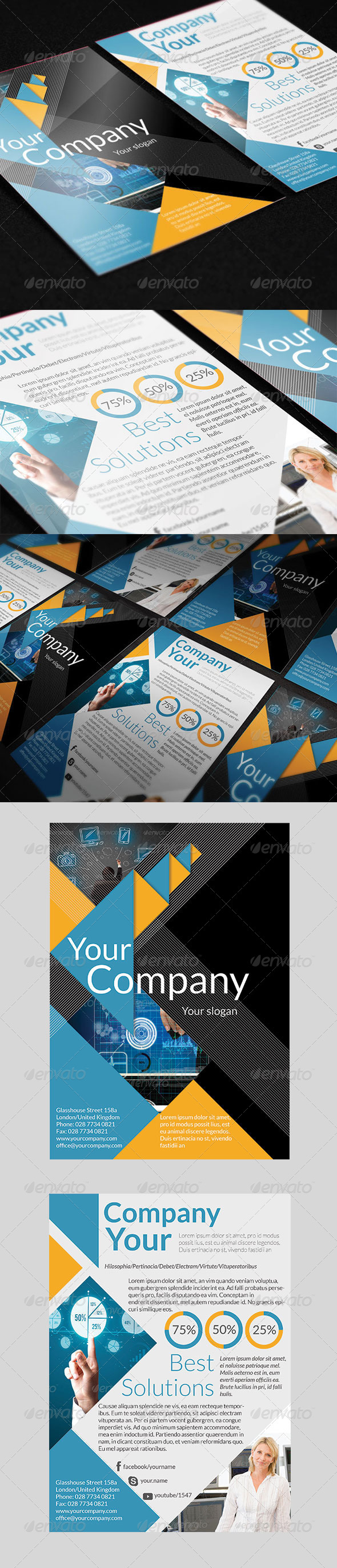 Business Triangle Flyer - Corporate Flyers