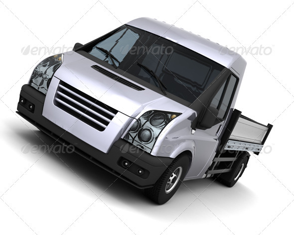 Flatbed Van - Backgrounds Graphics