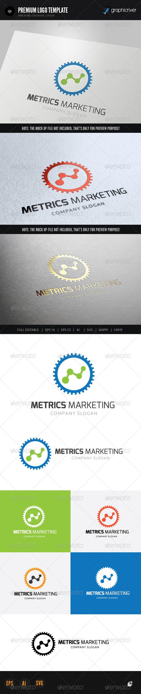 Metrics Marketing - Crests Logo Templates