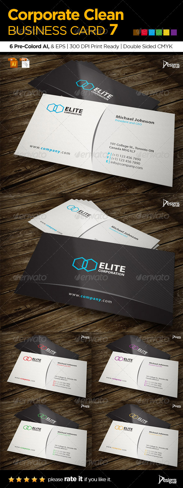 Corporate Clean Business Card 7 - Corporate Business Cards