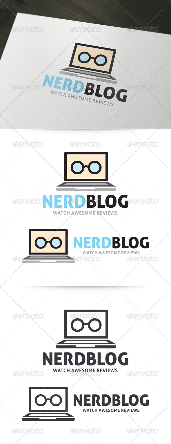 Nerd Blog Logo - Objects Logo Templates