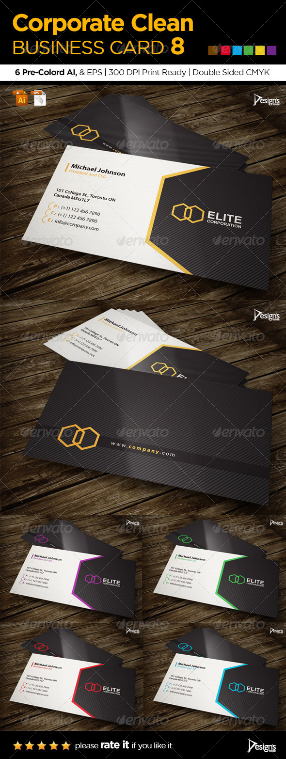 Corporate Clean Business Card 8 - Corporate Business Cards