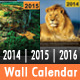 Memorial Wall Calendar 2014 | 2015 | 2016 - GraphicRiver Item for Sale