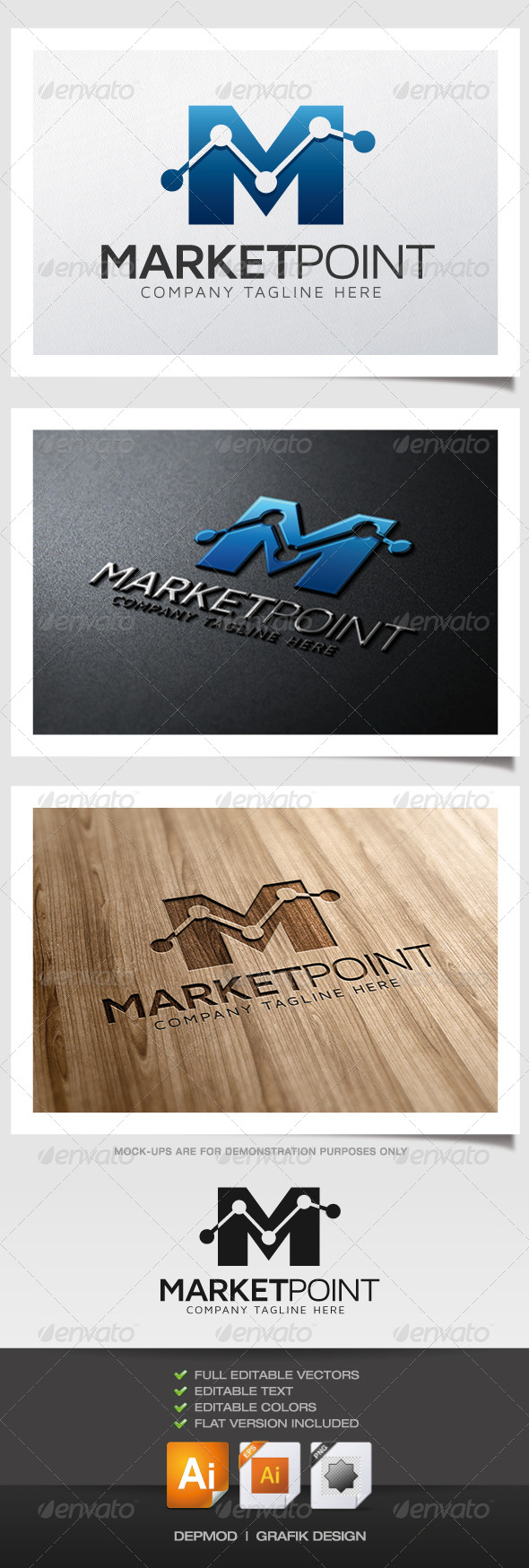 Market Point Logo - Letters Logo Templates