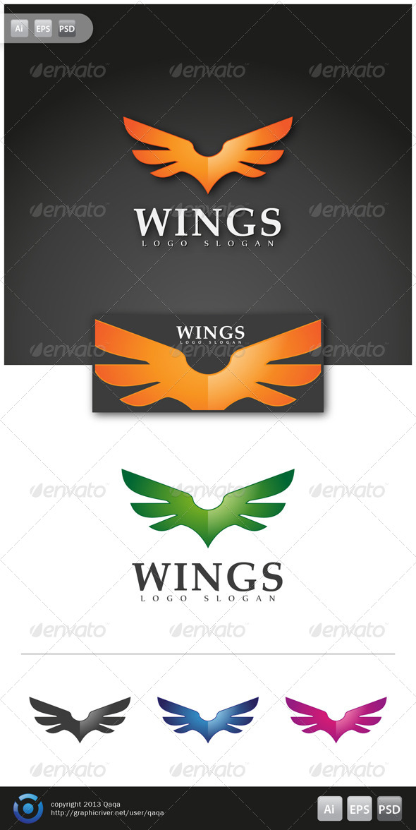 Wings Logo - Logo Templates