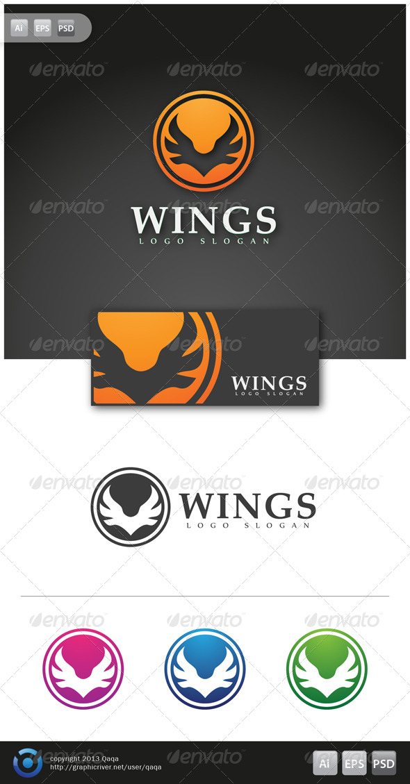 Wings Logo - 02 - Logo Templates