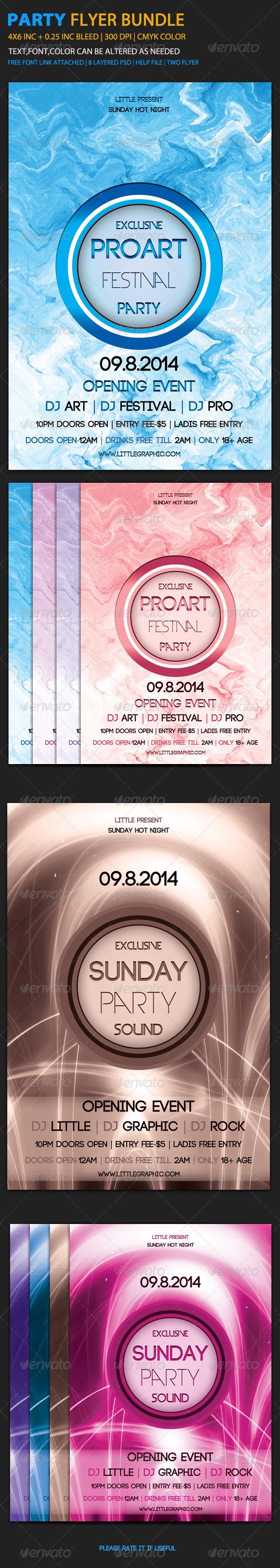 Party Flyer Bundle 1 - Clubs & Parties Events
