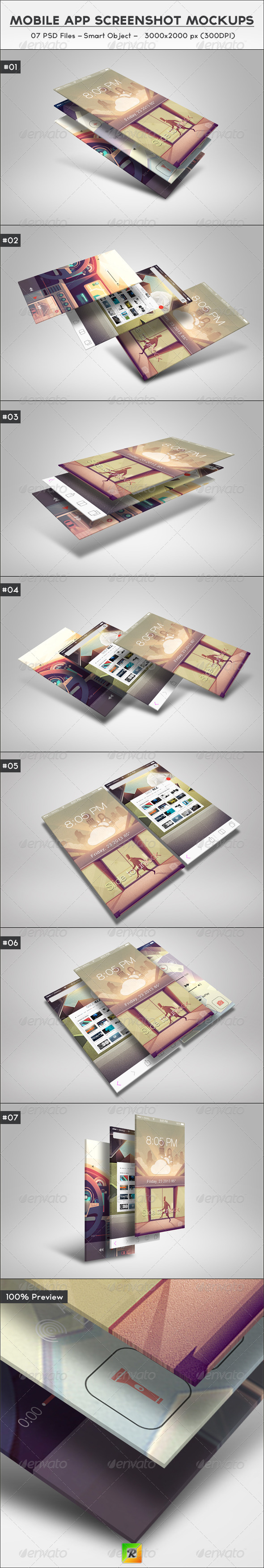 Mobile App Screenshot Mockups - Mobile Displays
