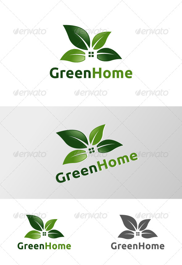 Green Home - Logo Templates