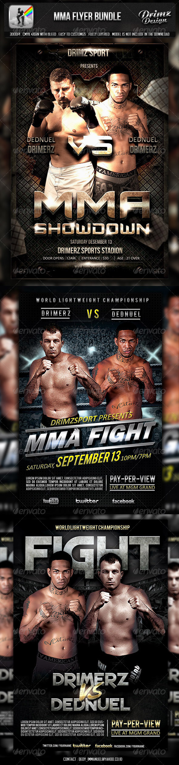 MMA Flyer Bundle - Sports Events