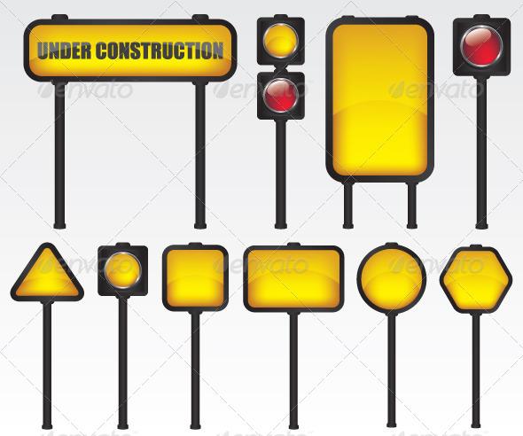 Traffic Sign Illustration - Objects Vectors