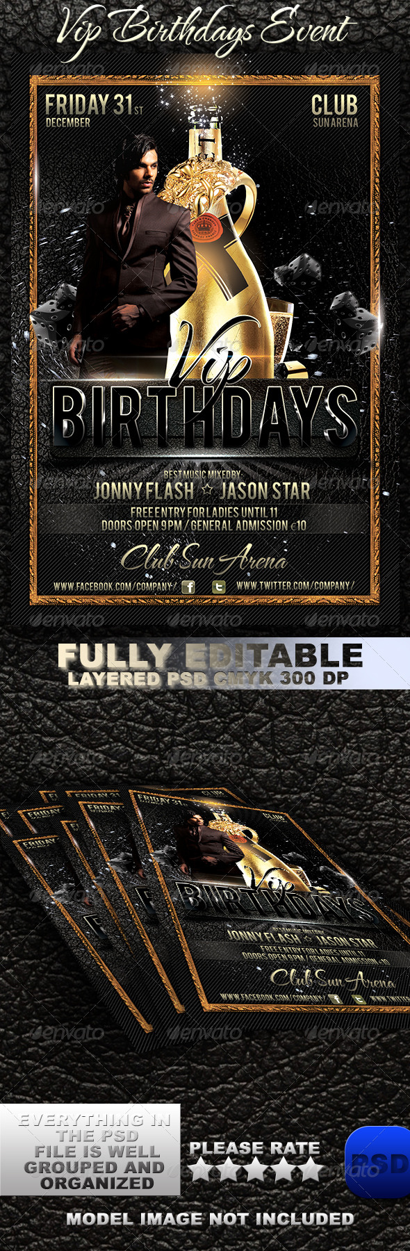 VIP Birthdays Event - Events Flyers