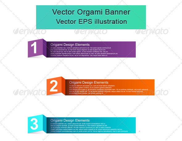 Vector Origami Elements - Web Elements Vectors