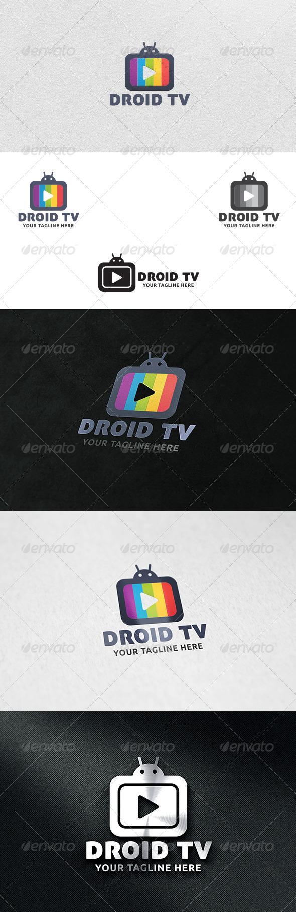 Droid TV - Logo Template - Symbols Logo Templates