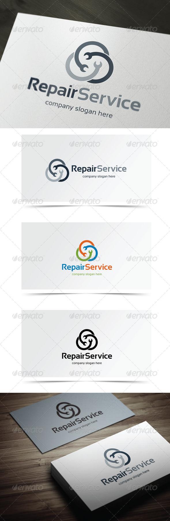 Repair Service - Symbols Logo Templates