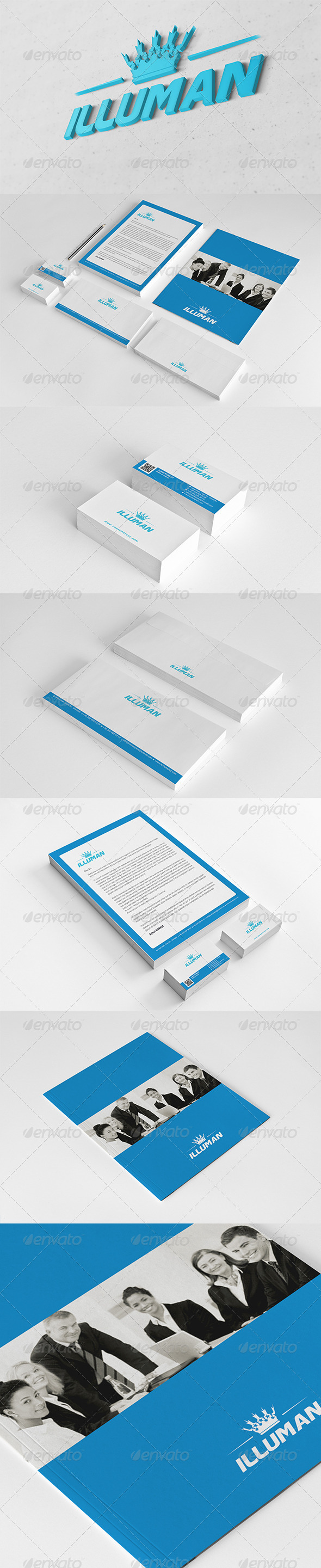 Illuman Corporate Identity Package  - Stationery Print Templates