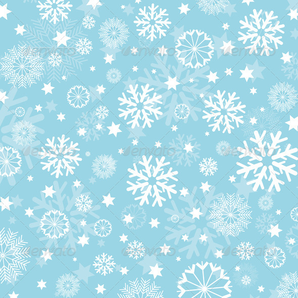 Snowflakes and Stars Background - Christmas Seasons/Holidays