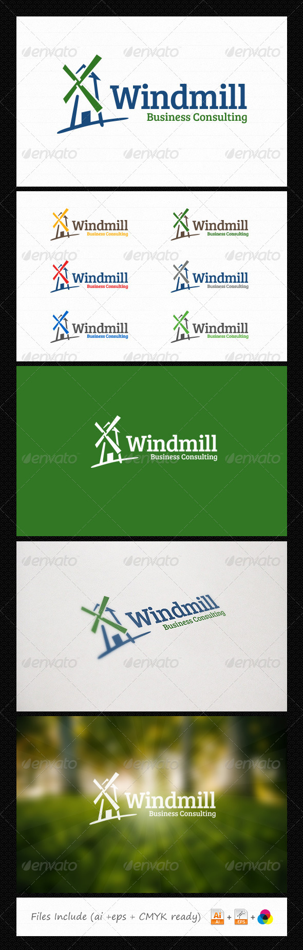 Windmill Consulting Logo - Abstract Logo Templates