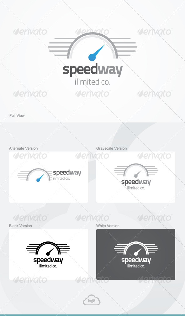 Speed Way Logo Template - Symbols Logo Templates