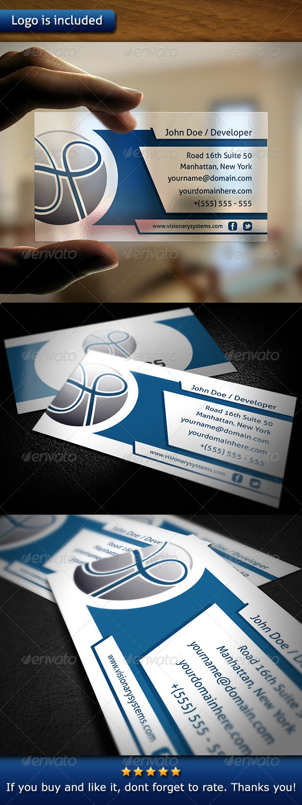 Tech Business Card - Corporate Business Cards