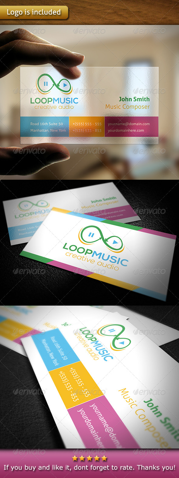 Music Business Card - Creative Business Cards