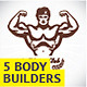 5 Bodybuilders  - GraphicRiver Item for Sale