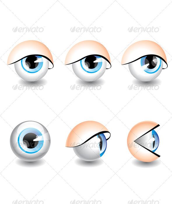 Eyes Icons - Web Elements Vectors