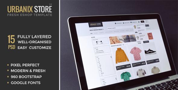 Urbanix Store - Fresh Eshop Template by pixel-fabric | ThemeForest
