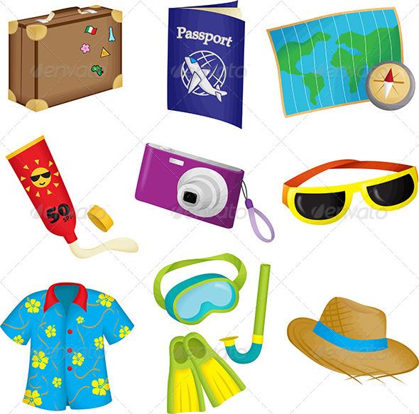 Summer Travel Icons - Seasons/Holidays Conceptual