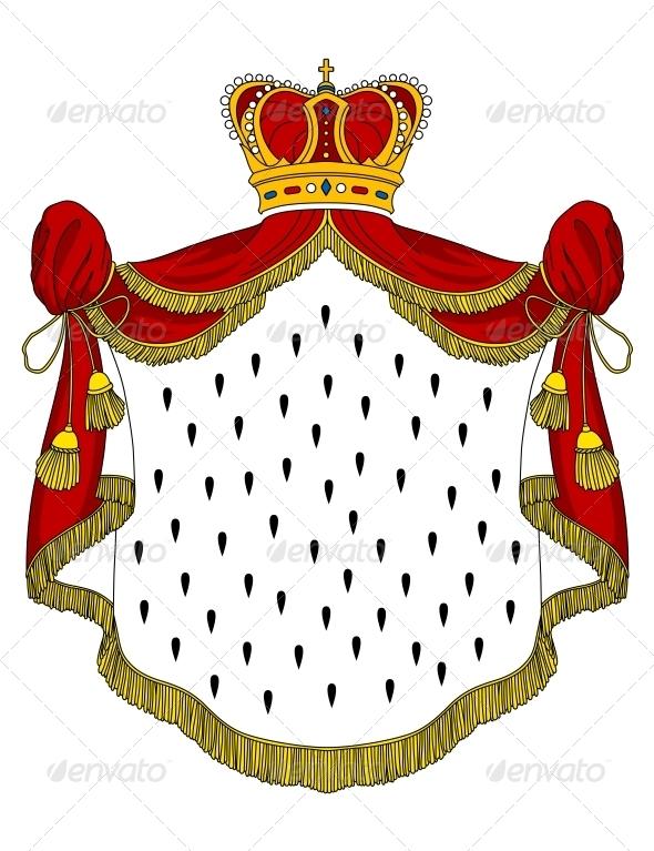 Medieval Royal Mantle - Decorative Symbols Decorative