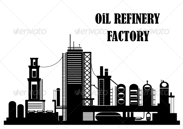 Oil Refinery Factory - Industries Business