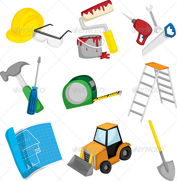 Construction Icons - Objects Vectors