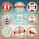 Vector Vintage Beach Labels and Badges - GraphicRiver Item for Sale