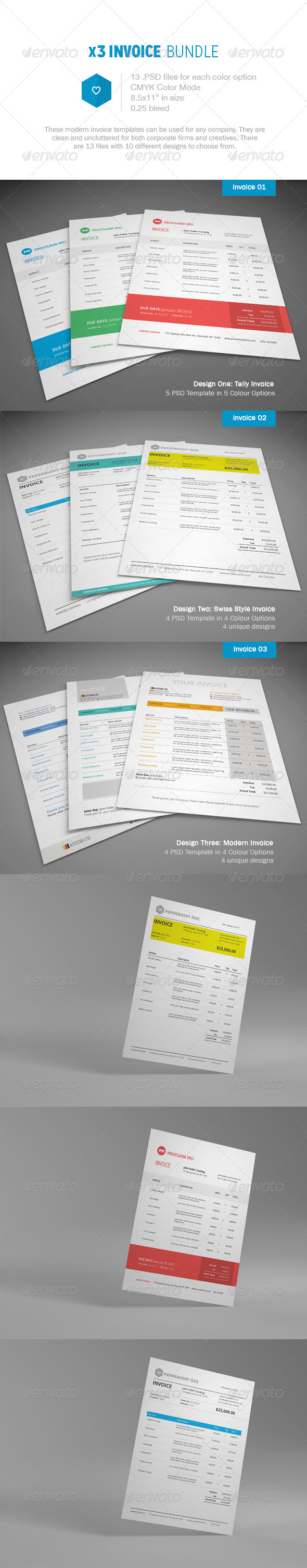 Invoice Bundle  - Proposals & Invoices Stationery