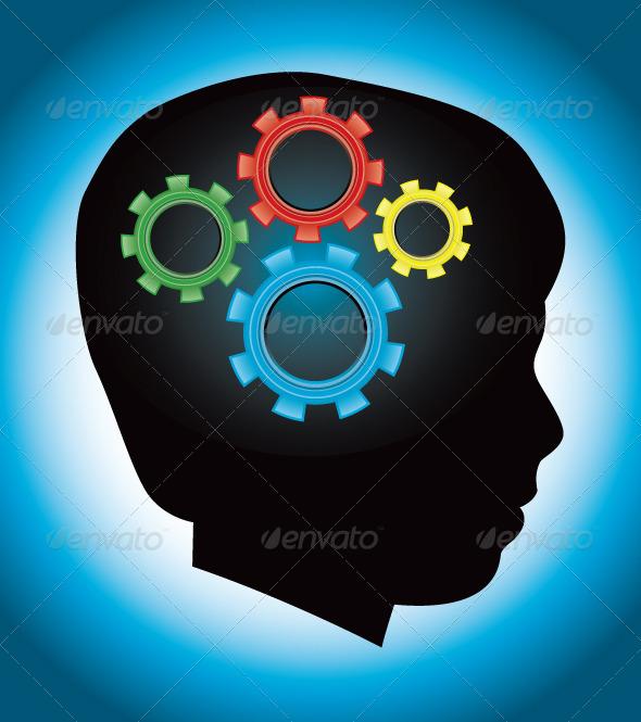 Child Autism Education Silhouette - Health/Medicine Conceptual