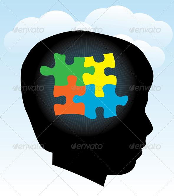 Child Autism Silhouette - Health/Medicine Conceptual